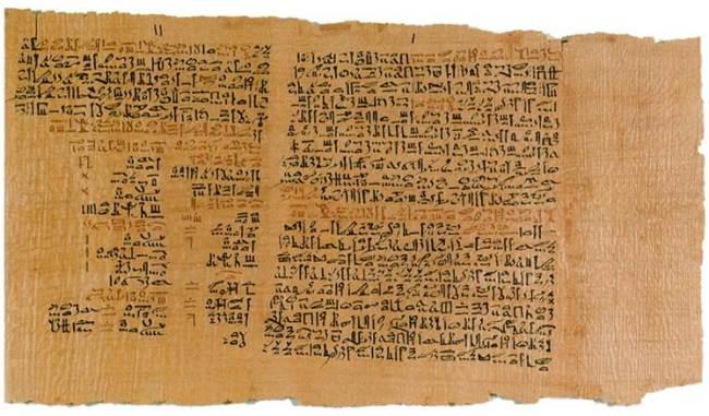 Fragmento del Papiro de Ebers