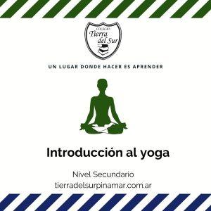 Introduccion al yoga en Colegio Tierra del Sur Pinamar