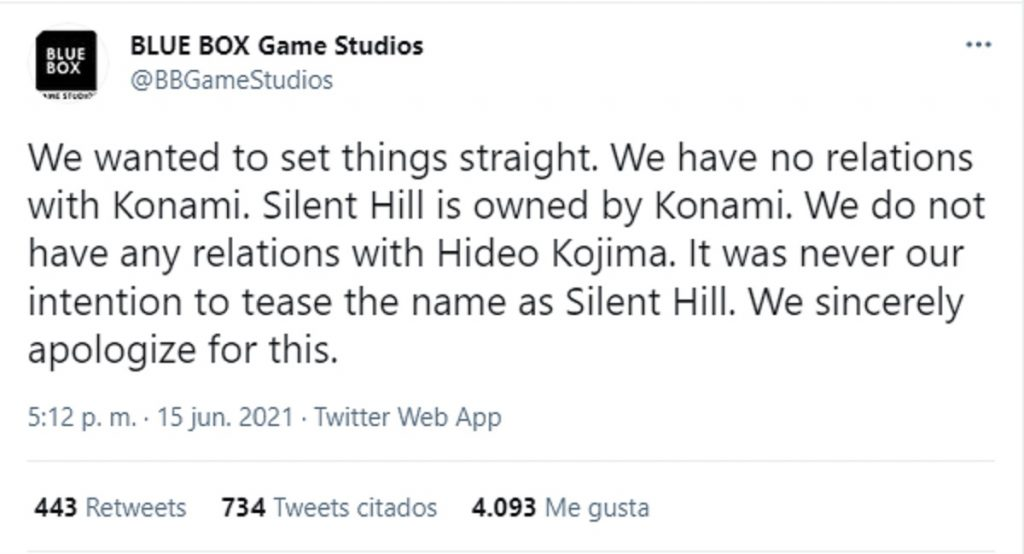 Sorry Blue Box Silent Hill
