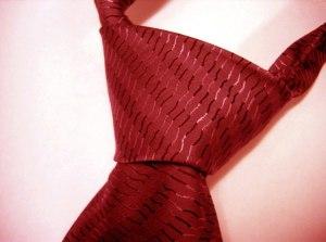 el nudo de la corbata