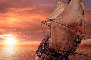 la Santa María, naufragara en el Caribe