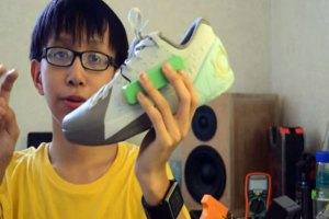 Adolescente inventa zapatos que generan electricidad