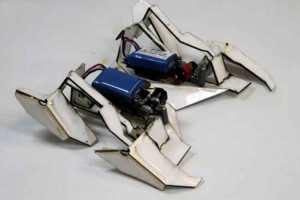 Transformer origami robot