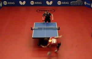 Un punto increíble en el tenis de mesa alemán