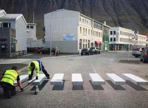 Paso de cebra - Islandia creó un nuevo paso de peatones
