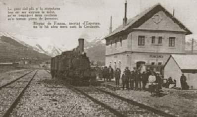 Postal de época. Estación de Puigcerda