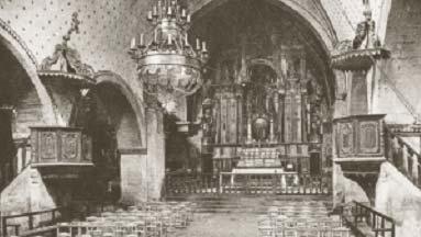Interior iglesia Santa Maria