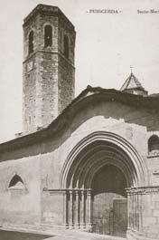 Postal de época. Iglesia de Santa Maria.