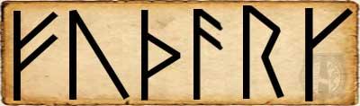 Fé - Alfabeto Futhark escandinavo primer  Aett