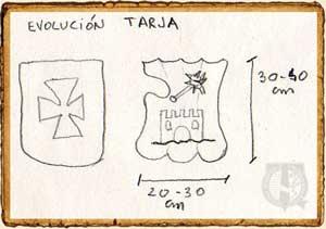 Evolución del escudo Tarja