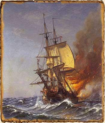 Relatos de fantasía - Fuerza de Mascarón - barco incendiado