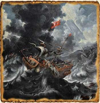 Relatos de Fantasía - Barco en la tormenta