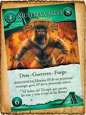 Mitología Azteca - Xiuhtecuhtli en Guerra de Mitos