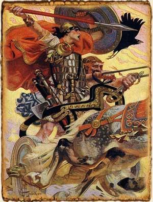 Mitologia Celta - Cû Chualinn en su carro