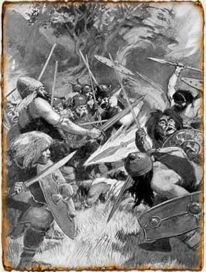 Lanza de Lugh en la batalla de Magh Tuiredh - Mitología Celta