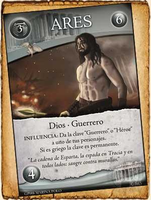 Mitología griega - Ares en Guerra de Mitos