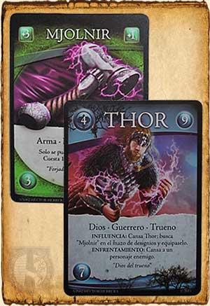 Thor equipado con su martillo Mjolnir