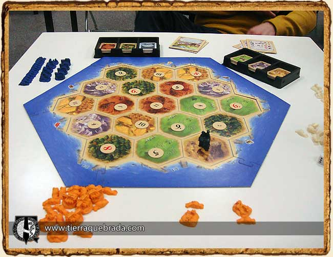 Configuración del tablero de la final de Catan