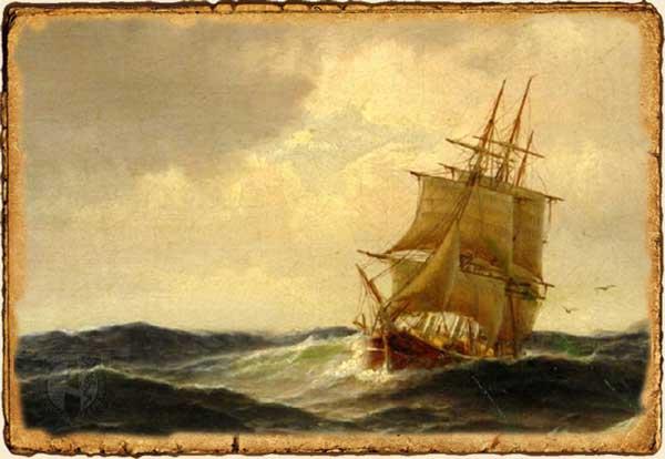 Bricbarca, navegando ceñida al viento