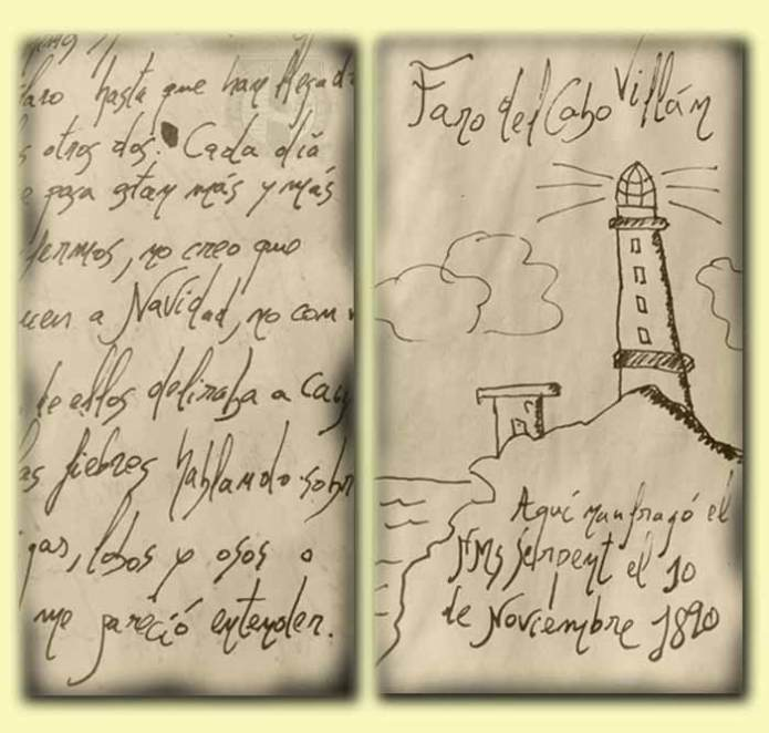 Páginas del Diario de Mendo Mariñas fechado en 1890