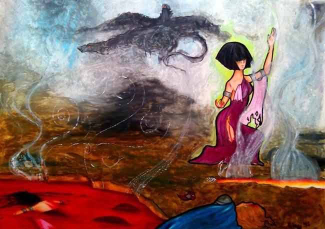 Ilustraciones de fantasía - La Batalla de los Cinco Ejércitos