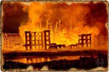 Edificio en llamas - Relatos de Fantasía