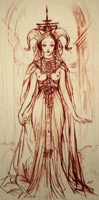 Ilustraciones de Fantasía - Hechicera por Kaliparvati