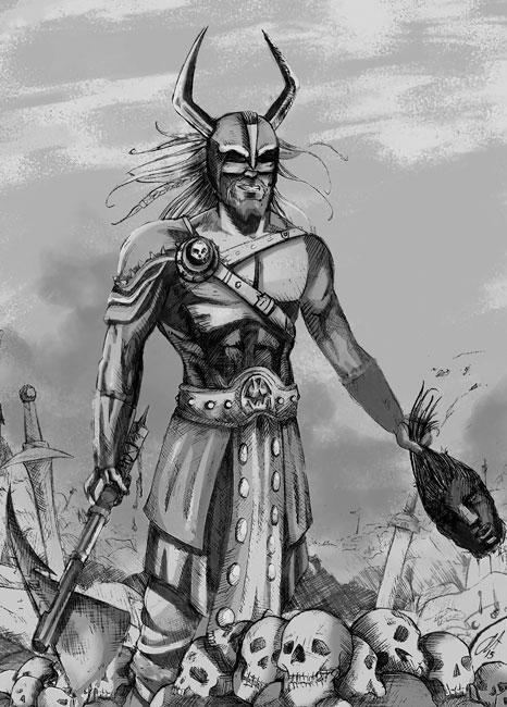 Guerrero - Ilustraciones de Fantasía