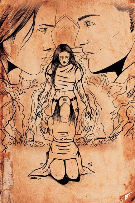 Ilustraciones de fantasía - La caída de Ellesmere