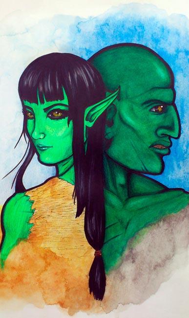 Ilustraciones de Fantasía - Sarkan por Mélanie Ariass
