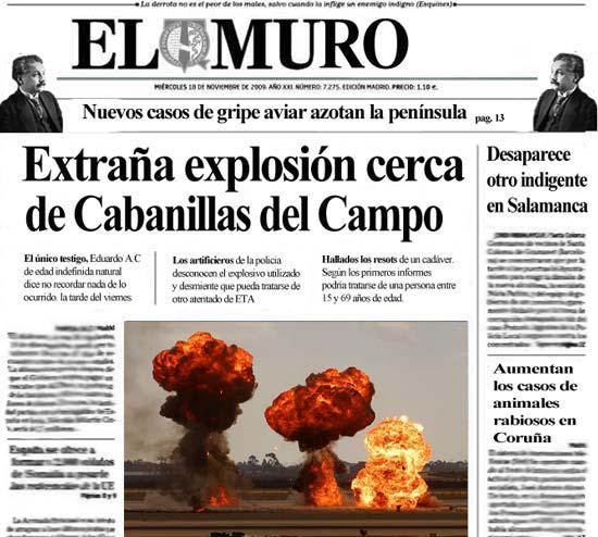 Extraña Explosión cerca de Cabanillas del Campo