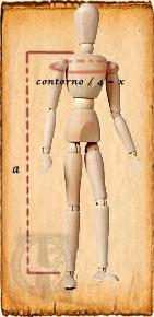 Maniqui medidas capa medieval