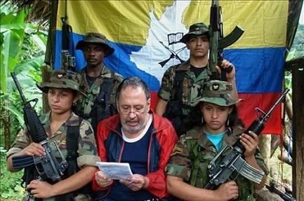 Oscar Tulio Lizcano cuando estaba en manos de la guerrilla