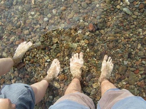 Ah!! y sí, nos metimos en el Lago Baikal!!!