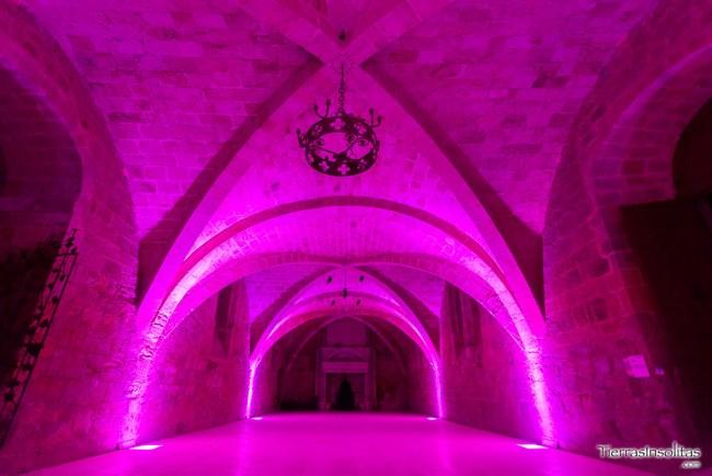 iluminacion abadía fontfroide