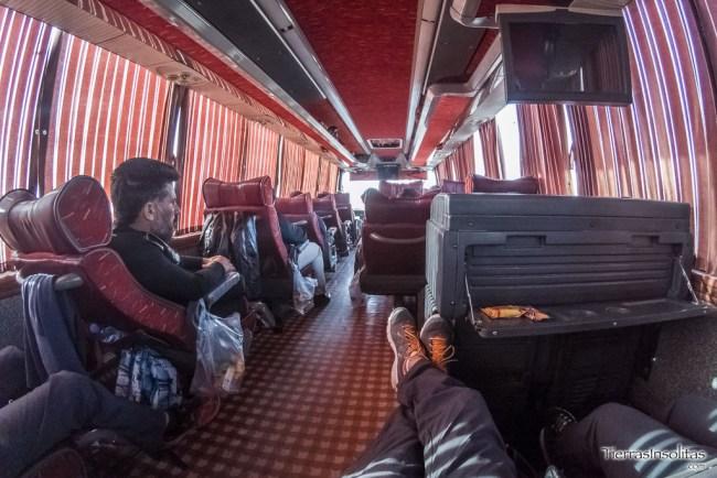comodidad en los autobuses vip