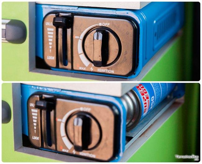 acceso botella camping gas