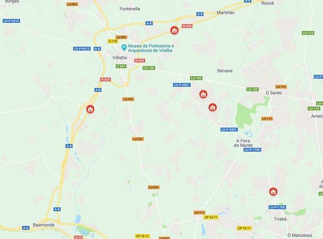 mapa cementerios góticos en galicia