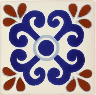 6x6 zacatecas talavera mexican tile