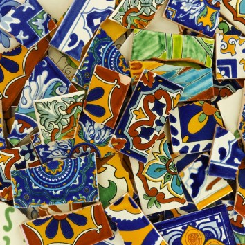 Talavera Tile Broken Shards Many Different Styles and Colors
