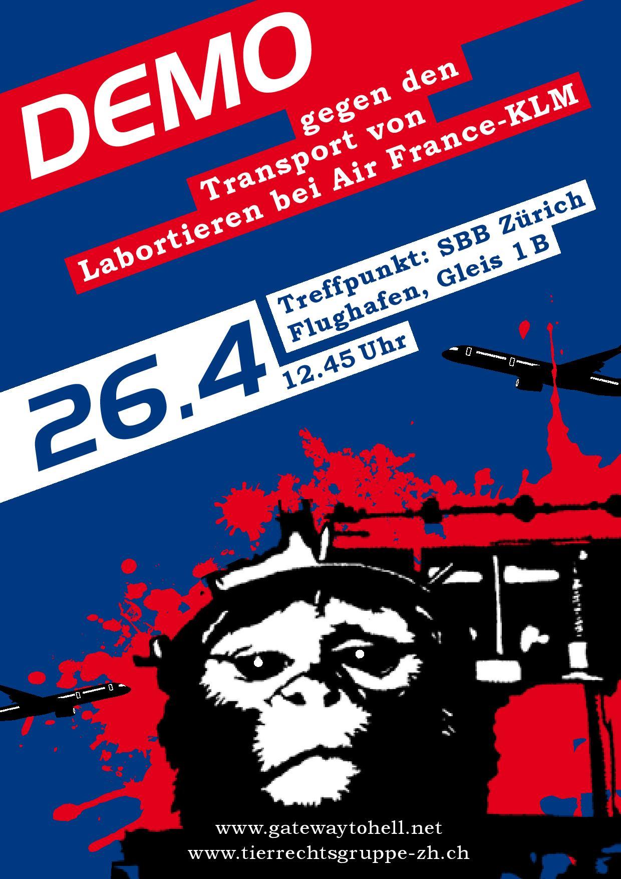 Demo gegen Air France-KLM