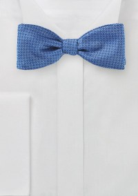 Trendy Checkered Bow Tie in Ink Blue