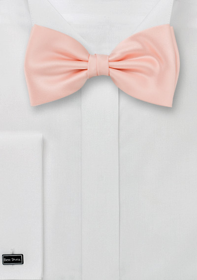 Bow ties Solid color bow tie in peach pink