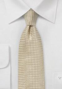 Champagne Colored Designer Silk Tie
