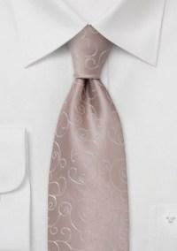 Peach colored necktie