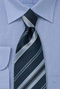 Navy blue striped tie Dark blue necktie with diagonal stripes
