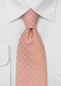 Designer neckties Peach-pink silk tie