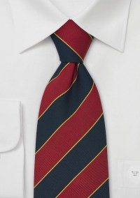 Extra Long British Neck Ties Regimental Tie Oxford by Parsley