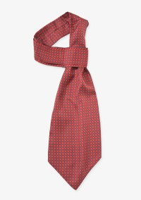 Red and Gray Ascot Tie