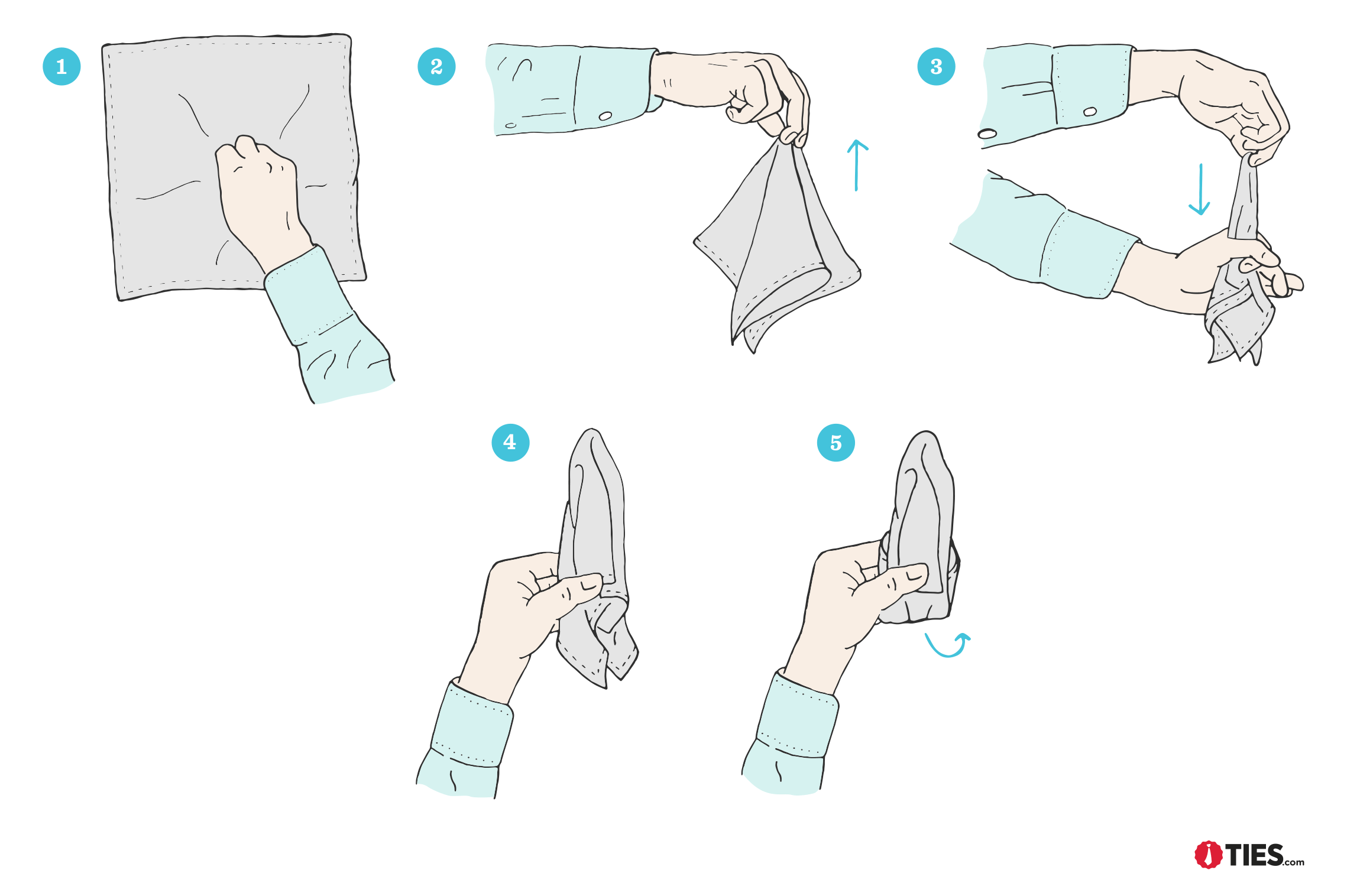 How To Fold the Puff Pocket Square  Tiescom